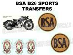 BSA B26 Transfers and Decals Sets